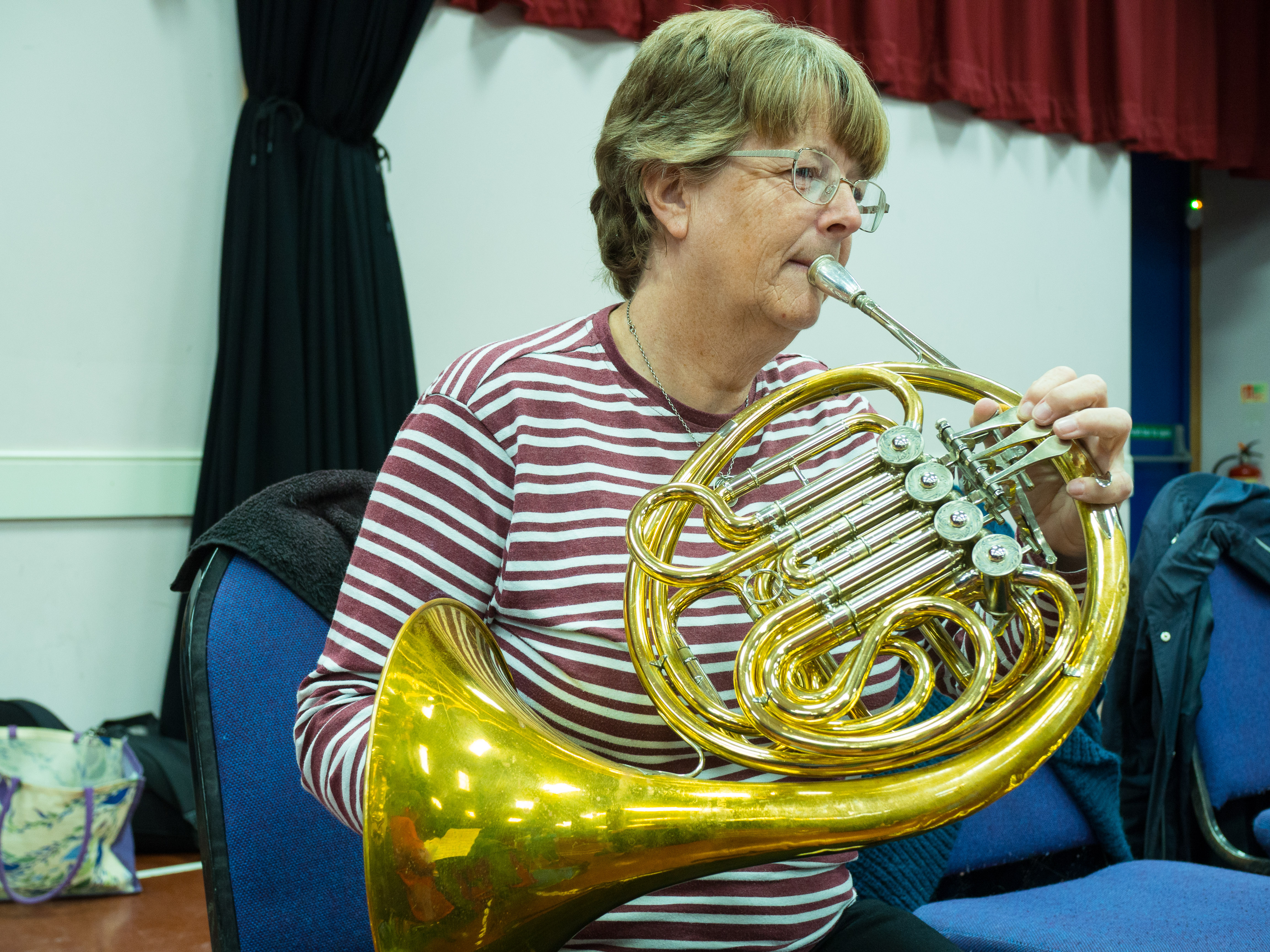 Debs playing the French Horn